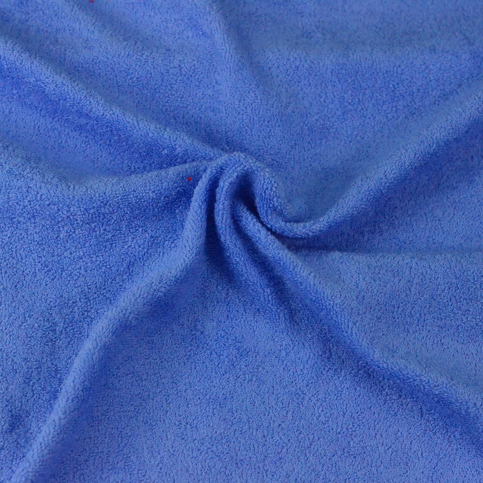 Froté prostěradlo modré, Výběr rozměru - 90x200cm