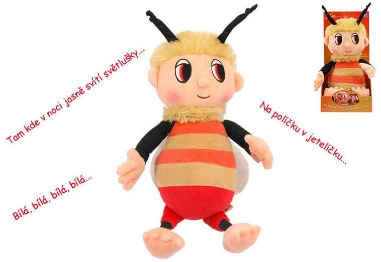 PLYŠ Příběhy včelích medvídků Čmelda 29 cm s písničkami