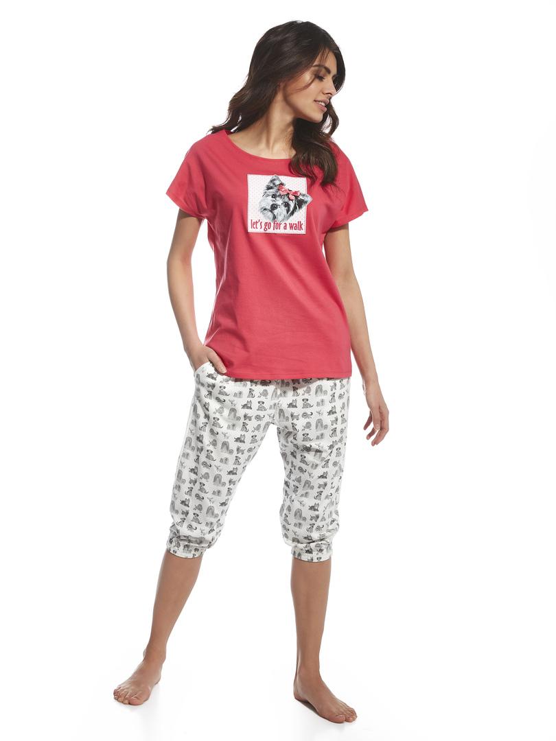 Dámské pyžamo 063/97 LET'S GO - CORNETTE - Červená-bílá/S