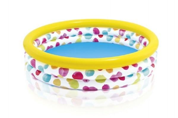 Bazén dětský s puntíky nafukovací 147x33cm 2+