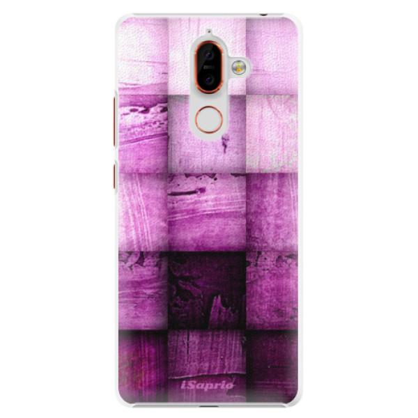 Plastové pouzdro iSaprio - Purple Squares - Nokia 7 Plus