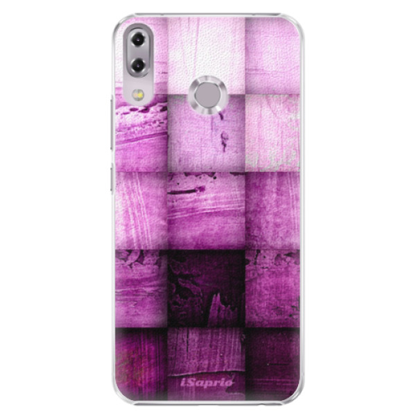 Plastové pouzdro iSaprio - Purple Squares - Asus ZenFone 5 ZE620KL