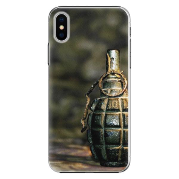 Plastové pouzdro iSaprio - Grenade - iPhone X