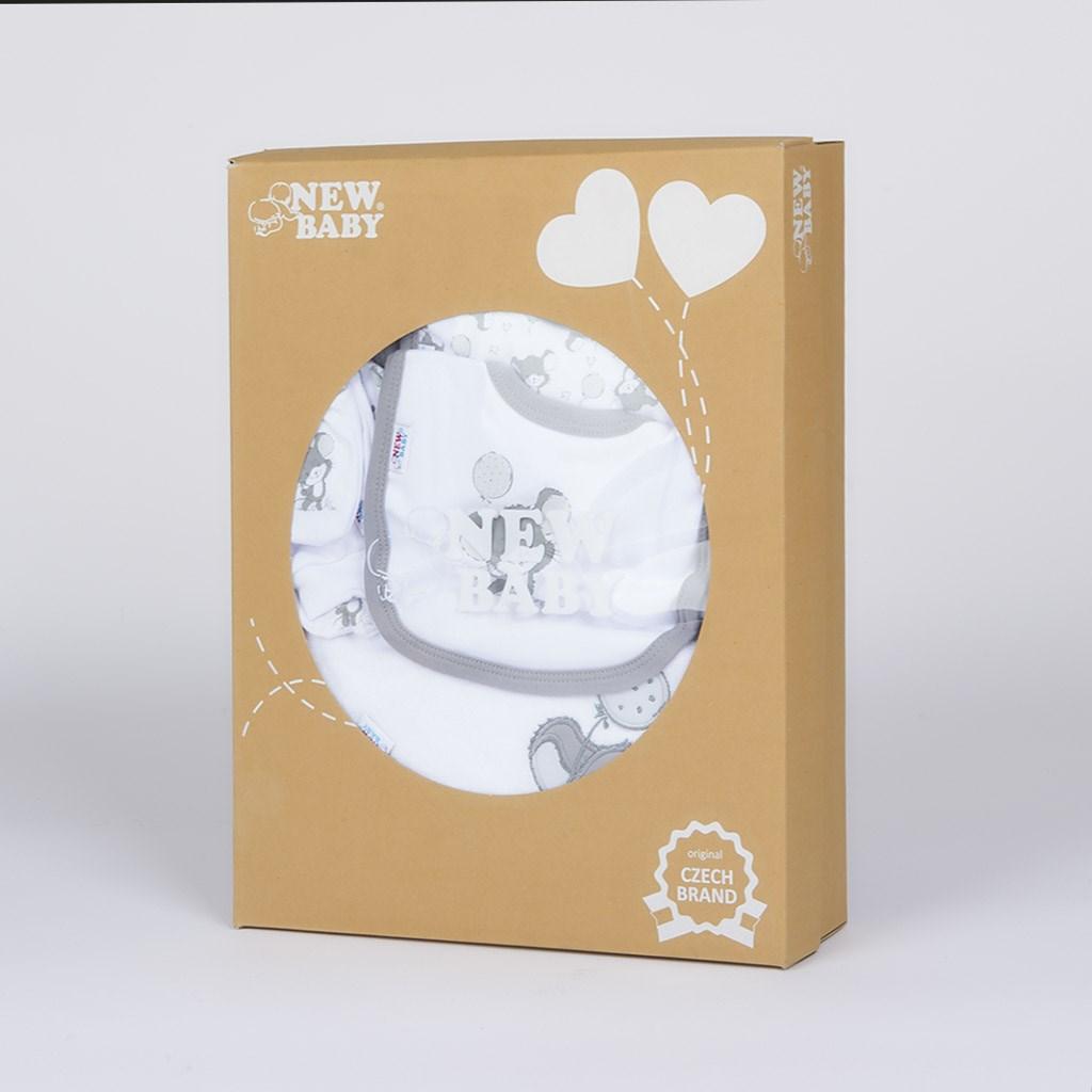 14-dílná luxusní kojenecká souprava New Baby Little Mouse v EKO krabičce - bílá/56 (0-3m)