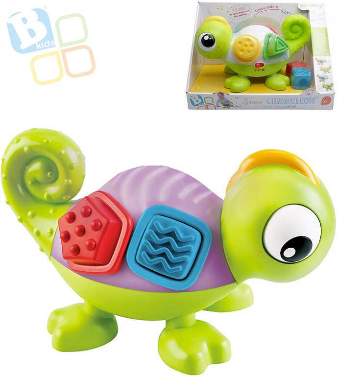 B-KIDS Baby chameleon senzorický set s kostkami mění barvy na baterie LED