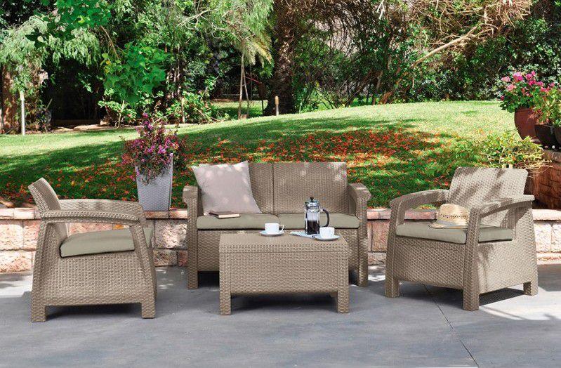 Zahradní set CORFU - cappuccino
