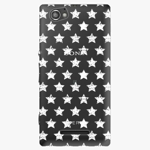 Plastový kryt iSaprio - Stars Pattern - white - Sony Xperia M