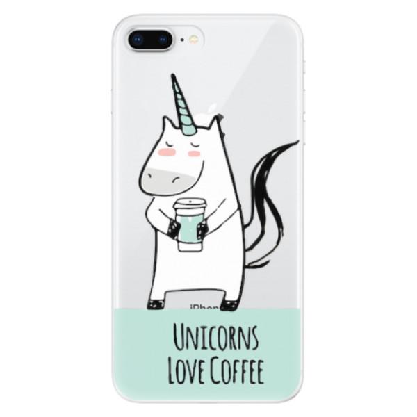 Odolné silikonové pouzdro iSaprio - Unicorns Love Coffee - iPhone 8 Plus