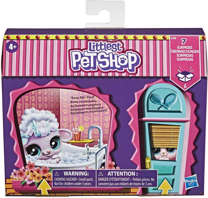 HASBRO Zdobený salón herní set Littlest Pet Shop 2 zvířátka s doplňky 7 překvapení