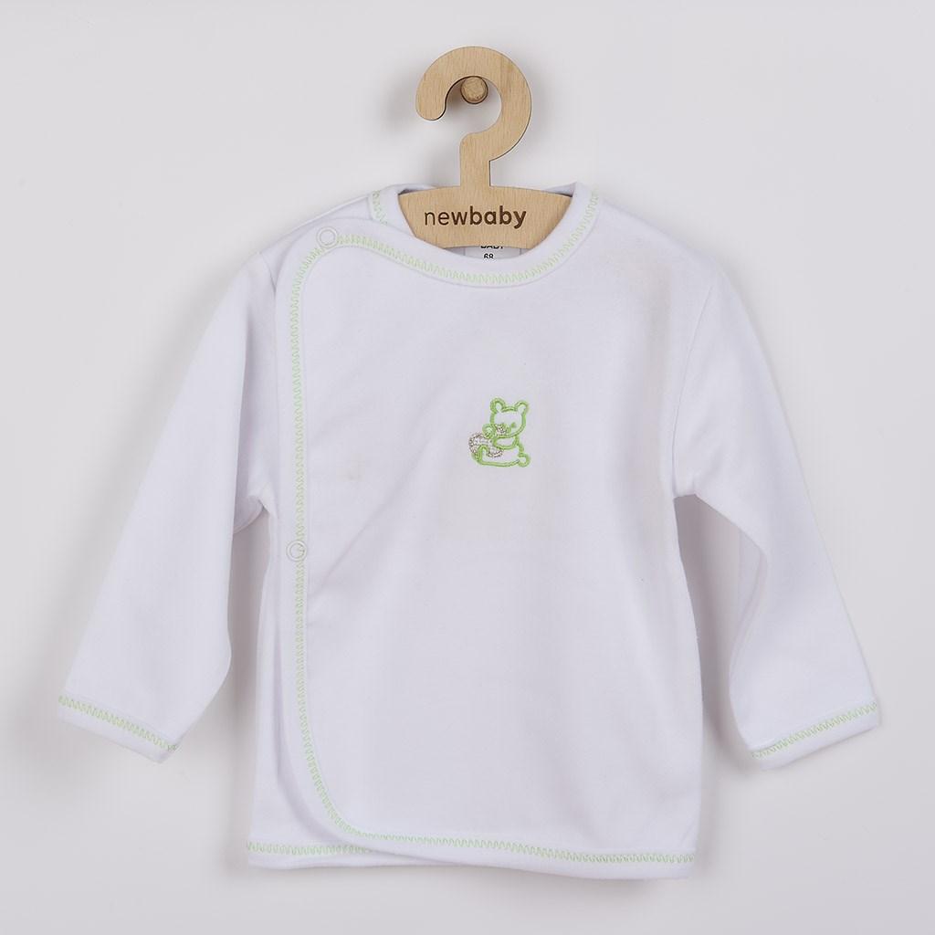 Kojenecká košilka s vyšívaným obrázkem New Baby - zelená/56 (0-3m)