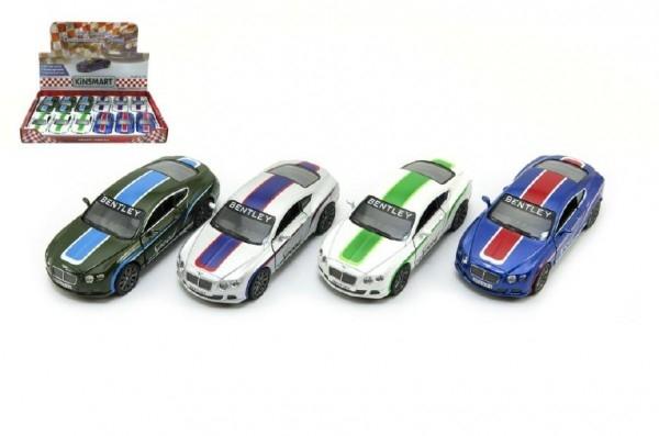 Auto Kinsmart Bentley Continental GT Speed 12cm kov asst 4 barvy na zpětné natažení 1
