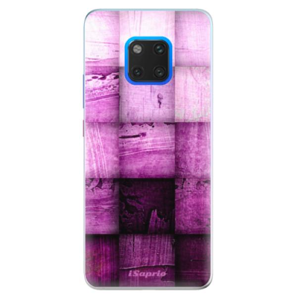 Silikonové pouzdro iSaprio - Purple Squares - Huawei Mate 20 Pro