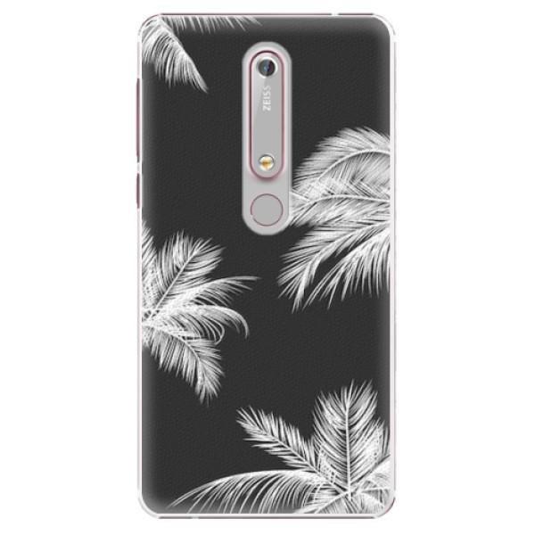Plastové pouzdro iSaprio - White Palm - Nokia 6.1
