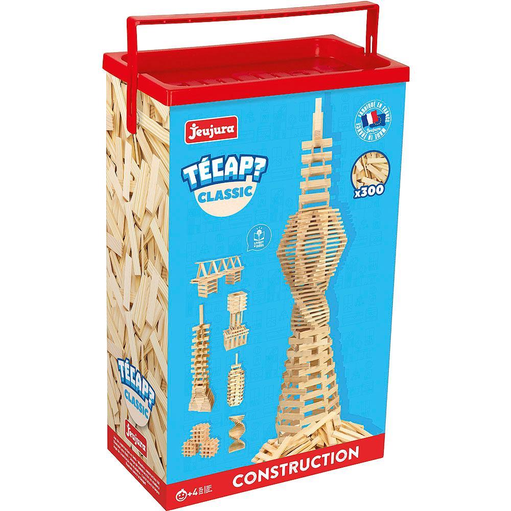 Jeujura Dřevěná stavebnice TECAP 300 dílků