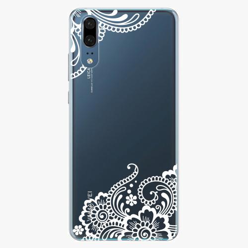 Silikonové pouzdro iSaprio - White Lace 02 - Huawei P20