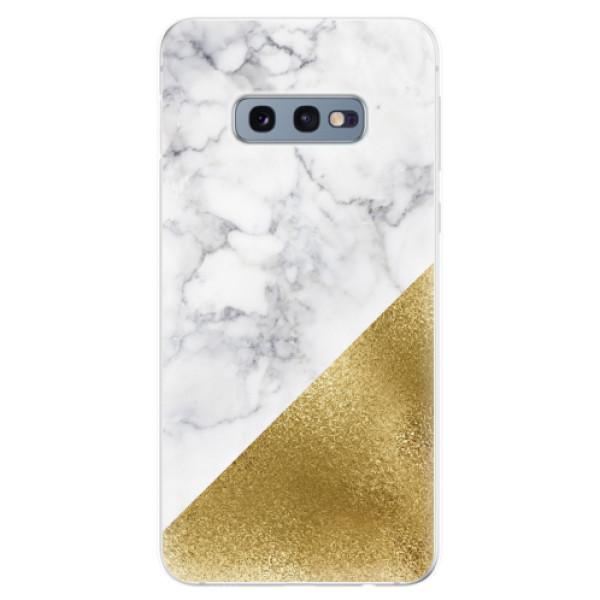 Odolné silikonové pouzdro iSaprio - Gold and WH Marble - Samsung Galaxy S10e