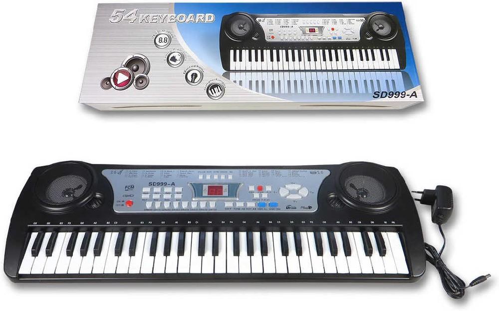 Pianko dětské elektronické 54 kláves set keyboard s nabíječkou