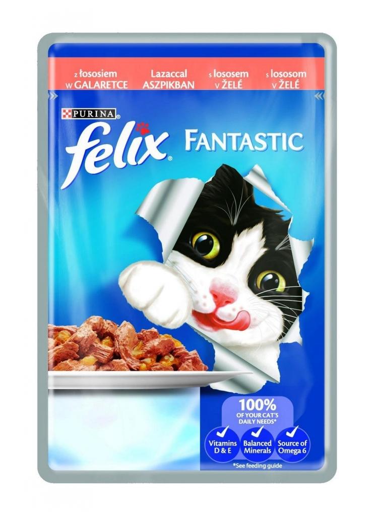 Fantastic s lososem v želé kapsička pro kočky 100 g