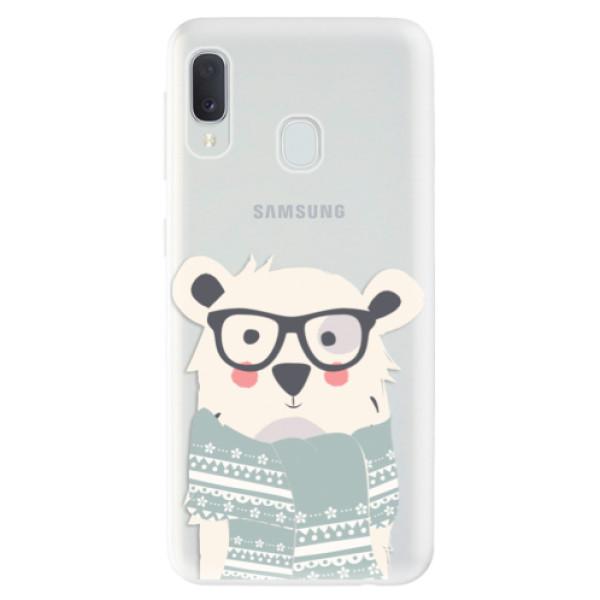 Odolné silikonové pouzdro iSaprio - Bear with Scarf - Samsung Galaxy A20e