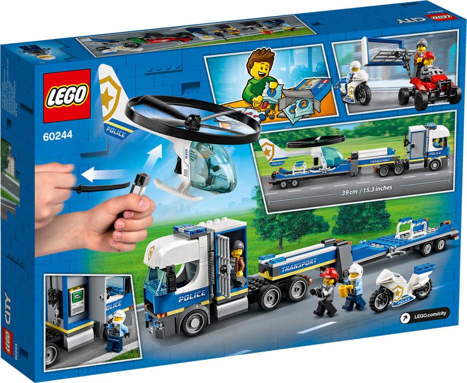 LEGO CITY Přeprava policejního vrtulníku 60244 STAVEBNICE