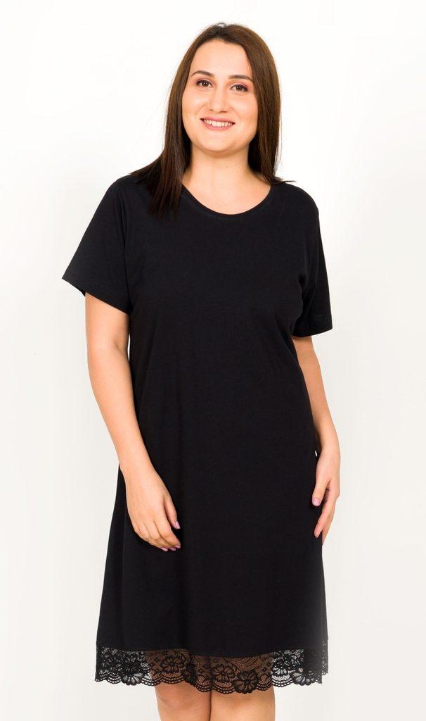 Dámská noční košile s krátkým rukávem Lenka - černá