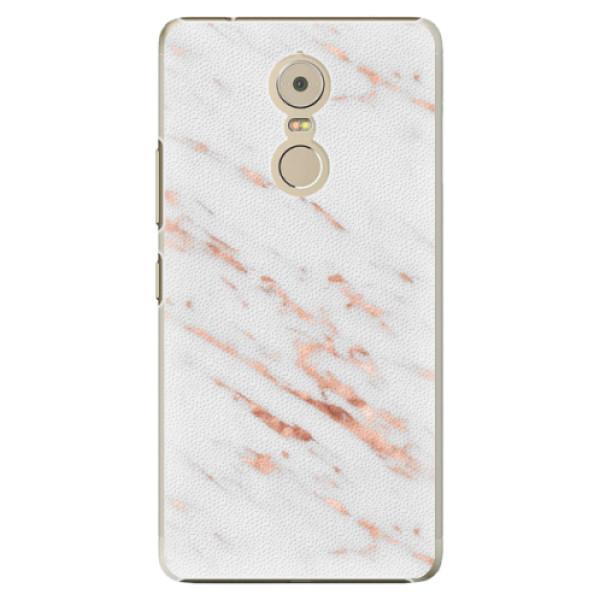 Plastové pouzdro iSaprio - Rose Gold Marble - Lenovo K6 Note