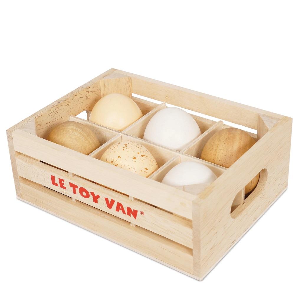 Le Toy Van Farmářská vejce v bedýnce