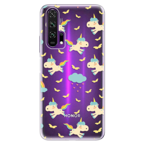 Odolné silikonové pouzdro iSaprio - Unicorn pattern 01 - Honor 20 Pro