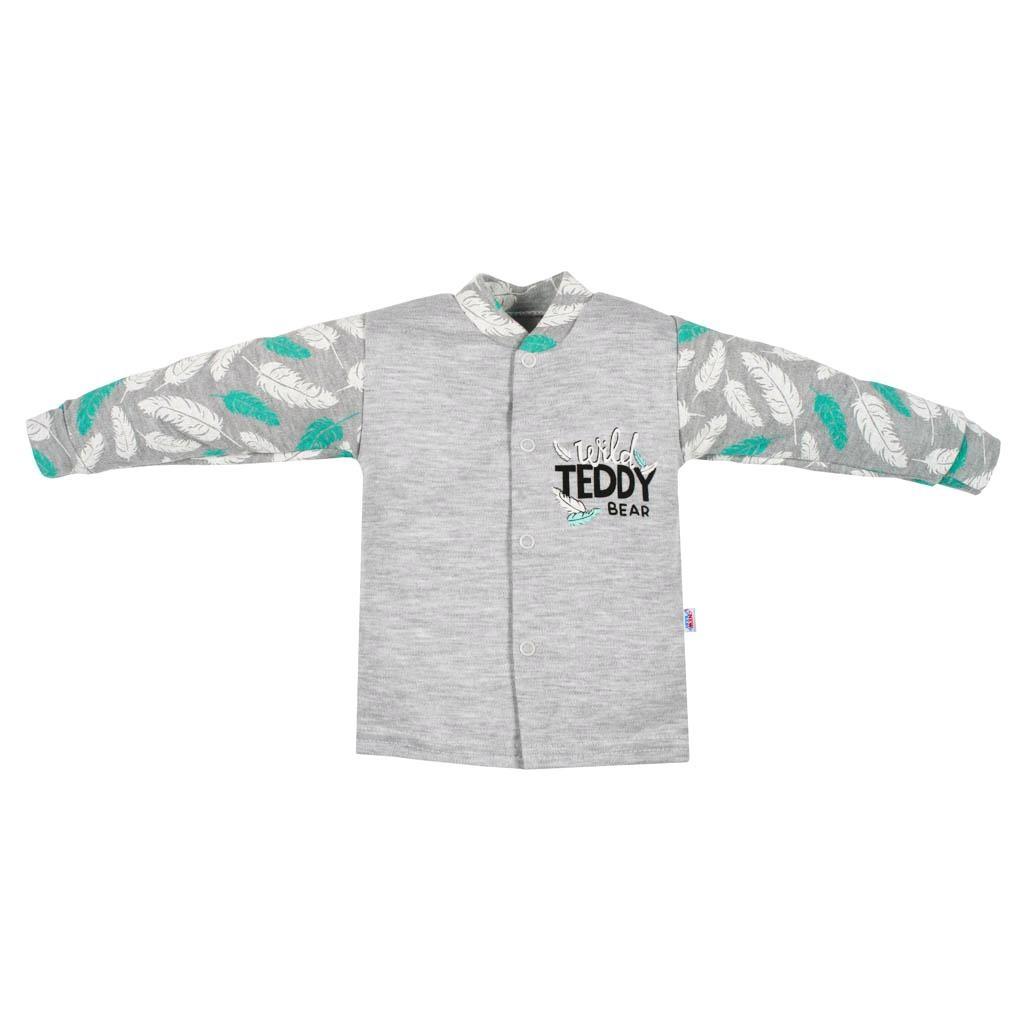 Kojenecký bavlněný kabátek New Baby Wild Teddy - šedá/86 (12-18m)