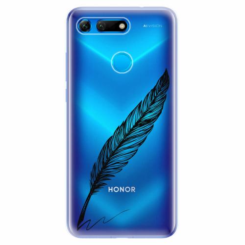 Silikonové pouzdro iSaprio - Writing By Feather - black - Huawei Honor View 20