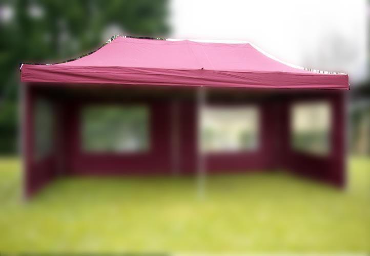 Náhradní střecha k party stanu 3 x 6 m, vínová