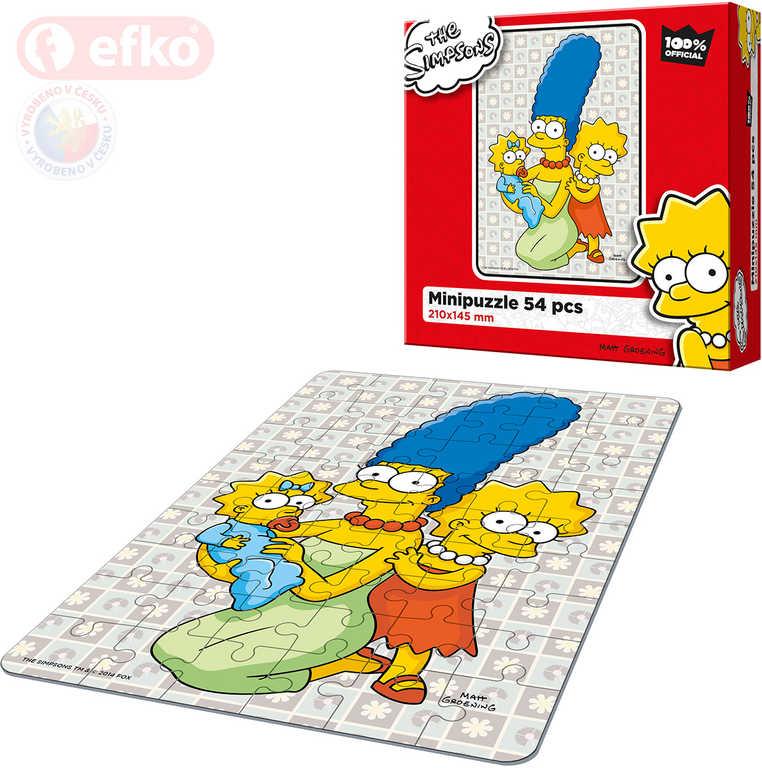 EFKO Puzzle The Simpsons Holky ze Spriengfieldu skládačka 15x21cm 54 dílků v krabici