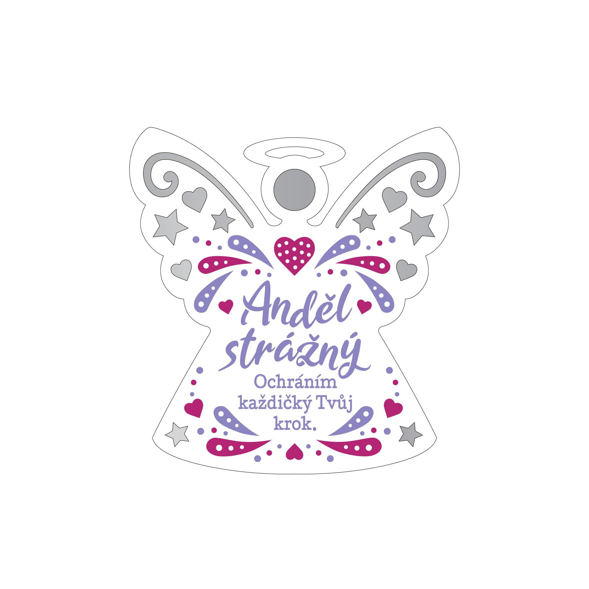 Plaketka anděl - Anděl strážný