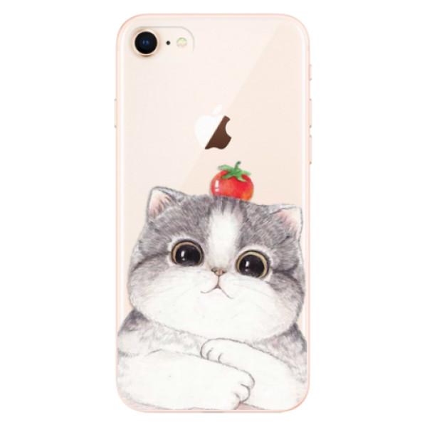 Odolné silikonové pouzdro iSaprio - Cat 03 - iPhone 8