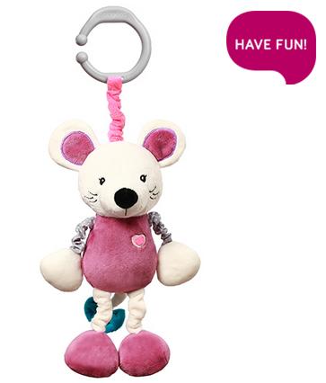Závěsná hračka s vibrací a chrastítkem Mouse Sybil