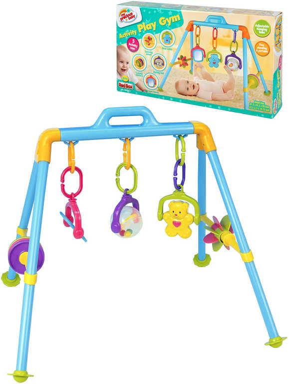 Baby hrazdička 48x28x9cm se závěsnými hračkami chrastítko pro miminko