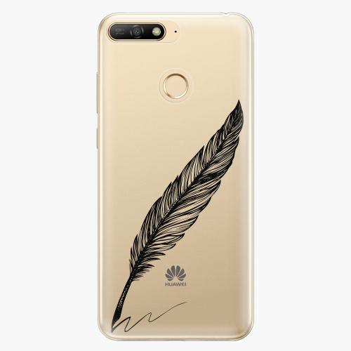 Silikonové pouzdro iSaprio - Writing By Feather - black - Huawei Y6 Prime 2018