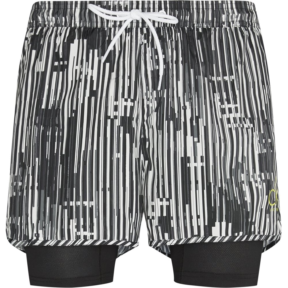 Pánské kraťasy KM0KM00244-021 černobílá - Calvin Klein