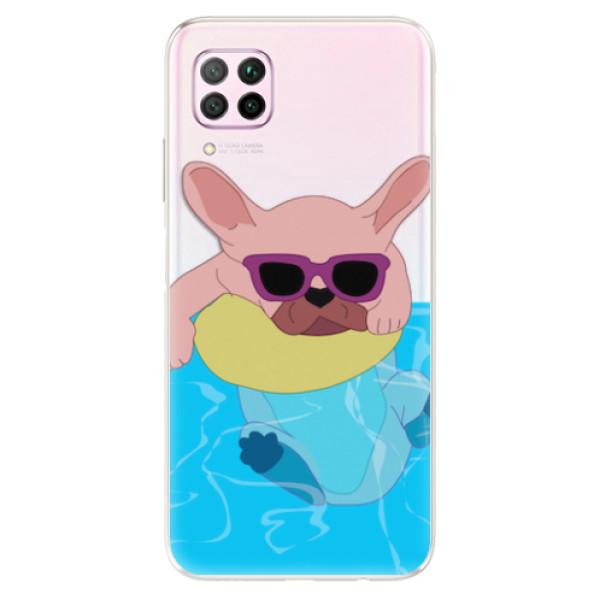 Odolné silikonové pouzdro iSaprio - Swimming Dog - Huawei P40 Lite