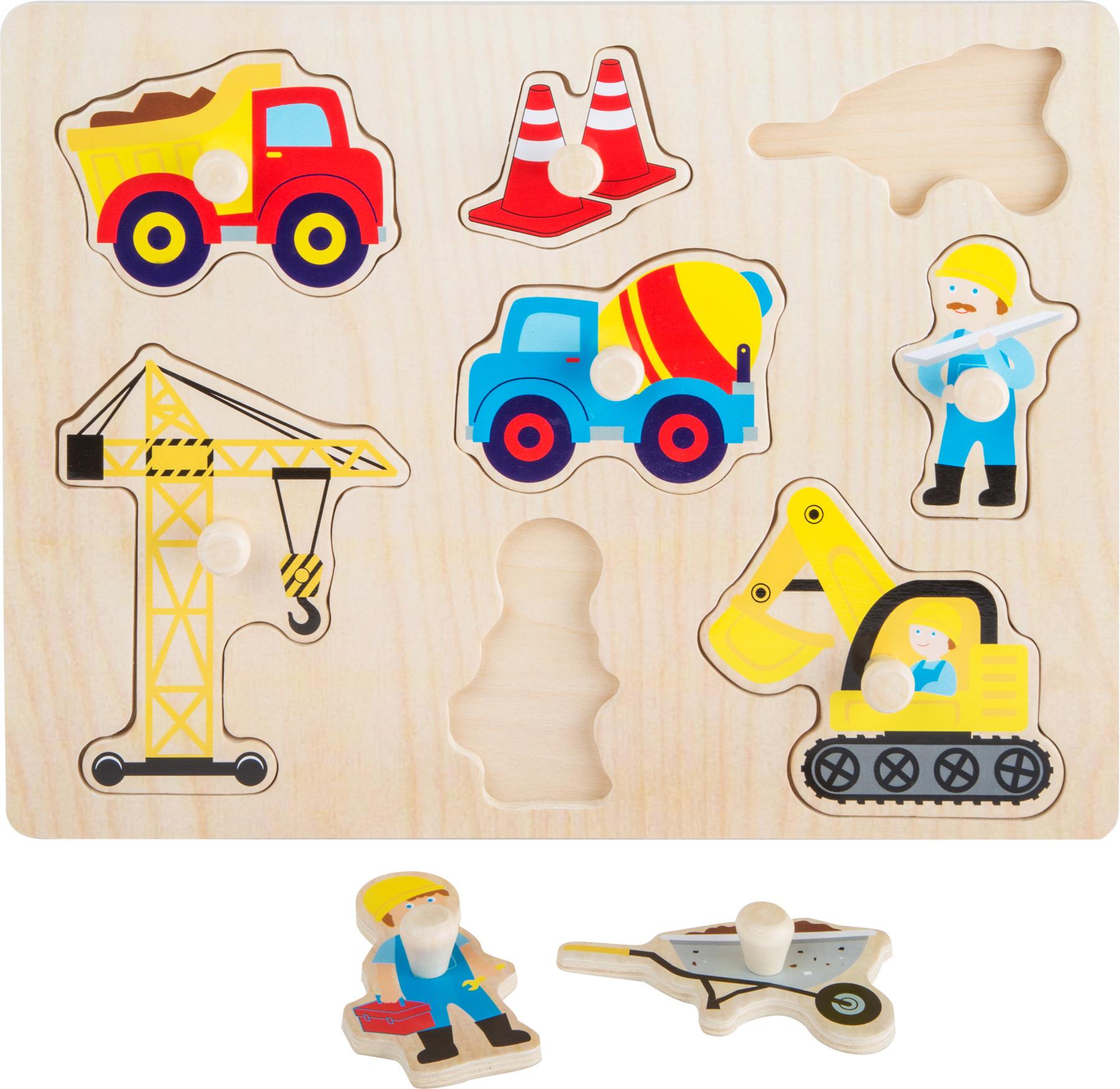 Small Foot Dřevěné puzzle staveniště