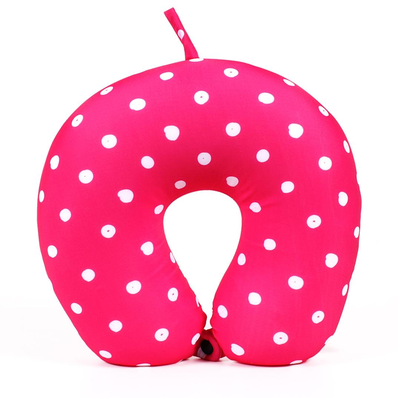 Cestovní polštář - Růžový s puntíky