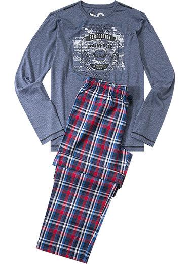Pánské pyžamo 52262 - Jockey - Jeans/2XL