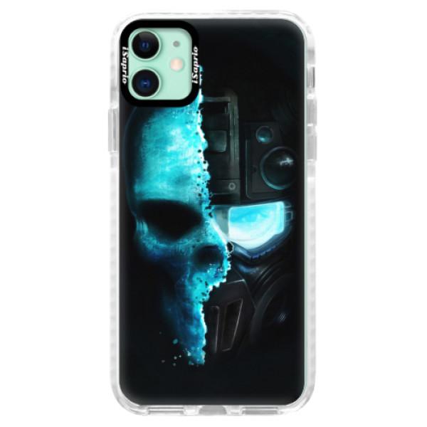 Silikonové pouzdro Bumper iSaprio - Roboskull - iPhone 11
