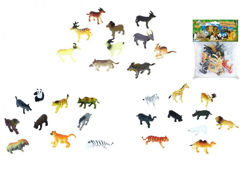 Zvířata divoká 10 ks v sáčku 3 druhy