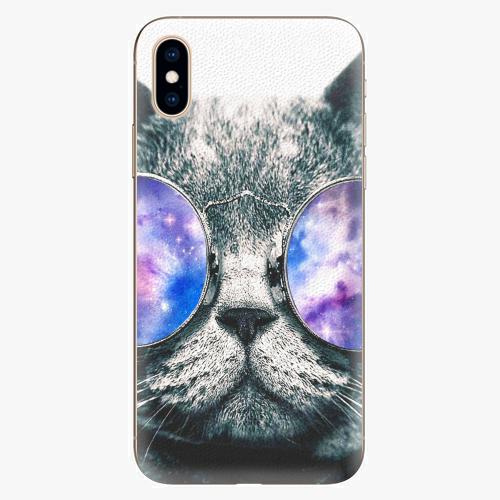 Silikonové pouzdro iSaprio - Galaxy Cat - iPhone XS
