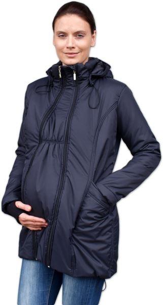 JOŽÁNEK Zimní bunda pro těhotné/nosící - vyteplená, černá, vel. L/XL - L/XL