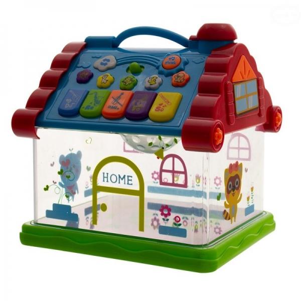 Interaktivní hračka s melodií - Domeček