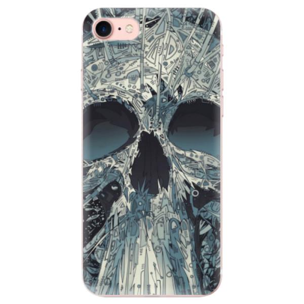 Odolné silikonové pouzdro iSaprio - Abstract Skull - iPhone 7