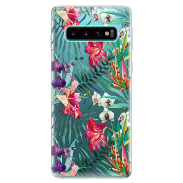 Odolné silikonové pouzdro iSaprio - Flower Pattern 03 - Samsung Galaxy S10
