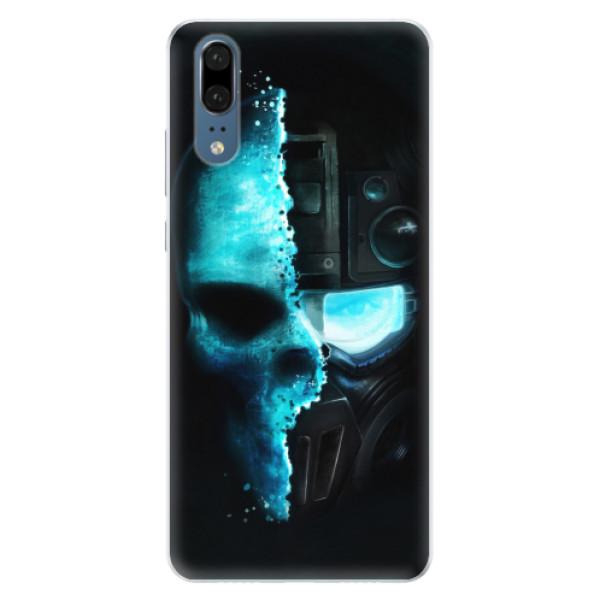 Silikonové pouzdro iSaprio - Roboskull - Huawei P20